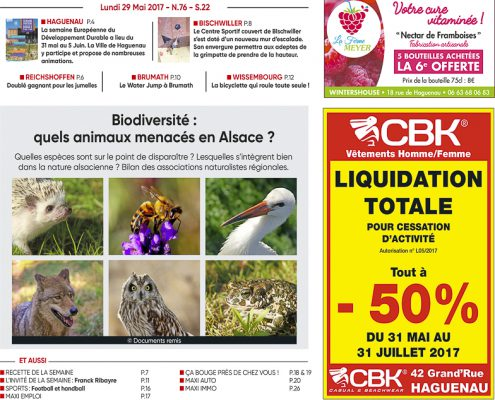 Publications Couverture Maxiflash du 29 mai 2017